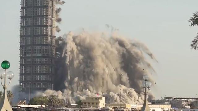 Abu Dhabi: Démolition d'un immeuble de 144 étages en 10 secondes