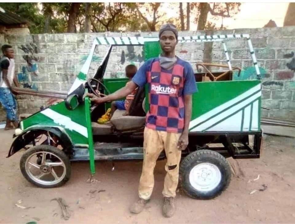 Sénégal : Un soudeur métallique fabrique une voiture… (Photos)