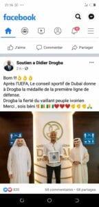 Didier Drogba reçoit encore un prestigieux titre à Dubaï