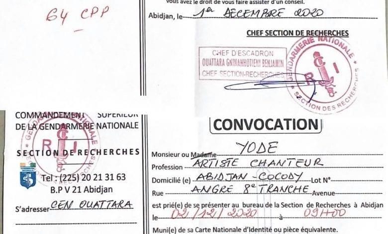 Côte d'Ivoire-Musique/ Les artistes Yodé et Siro convoqués par la Gendarmerie