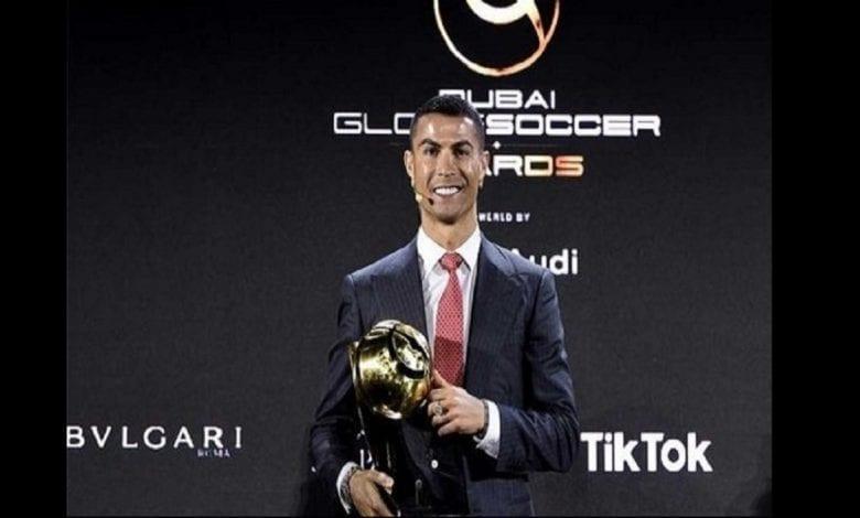 Cristiano Ronaldo nommé joueur du siècle aux Globe Soccer Awards