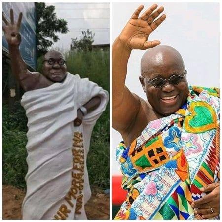 Les Ghanéens choqués par une statue du président