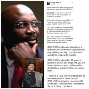 Libéria :clash entre le président GeorgesWeahet Ellen JohnsonSirleaf
