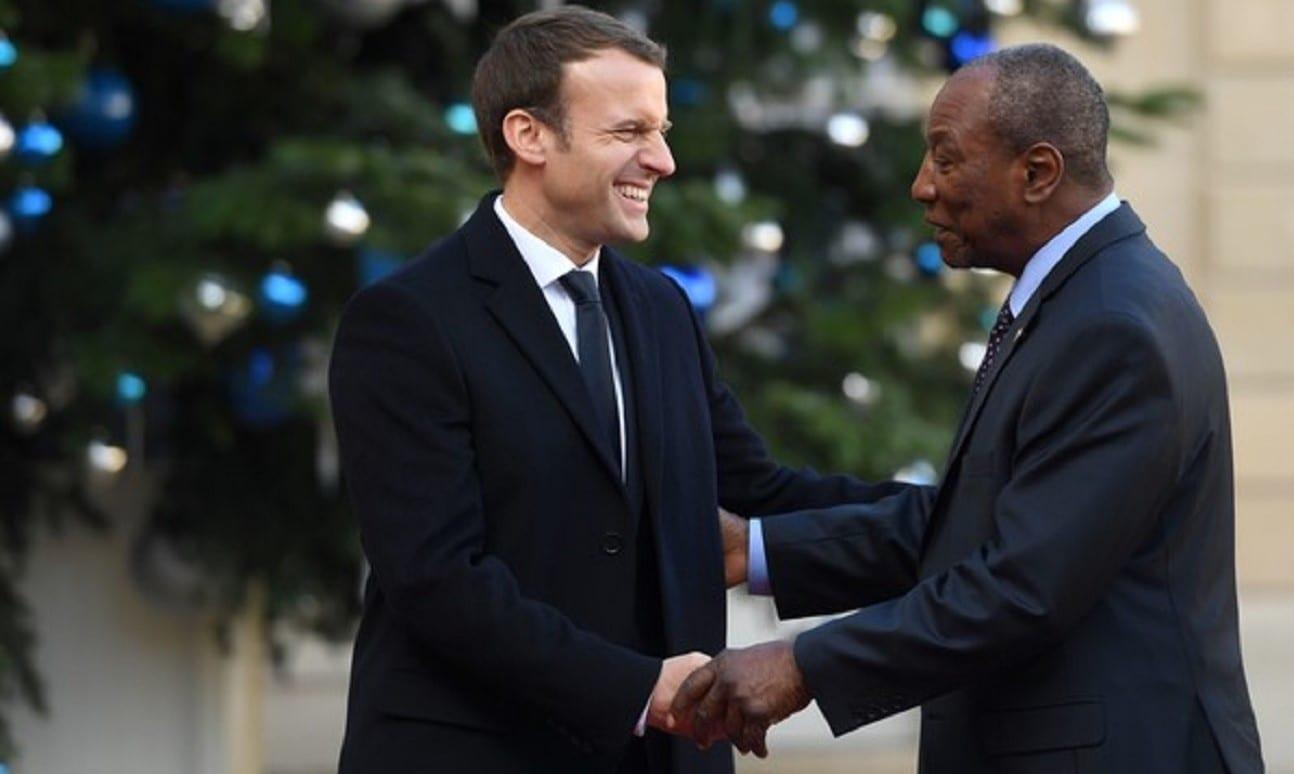 Les félicitations d'Emmanuel Macron à Alpha Condé pour sa réélection