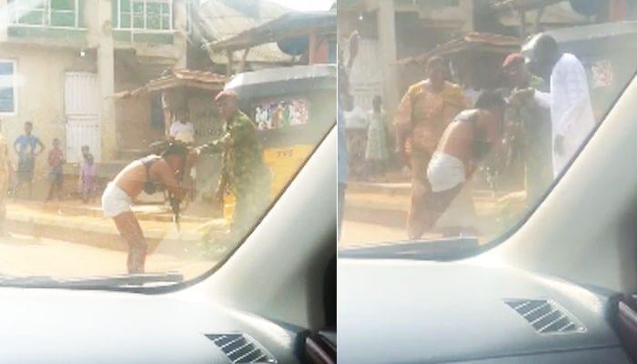 """Nigeria: Un soldat bat et déshabille une femme pour """" habillement indécent """" (vidéo)"""