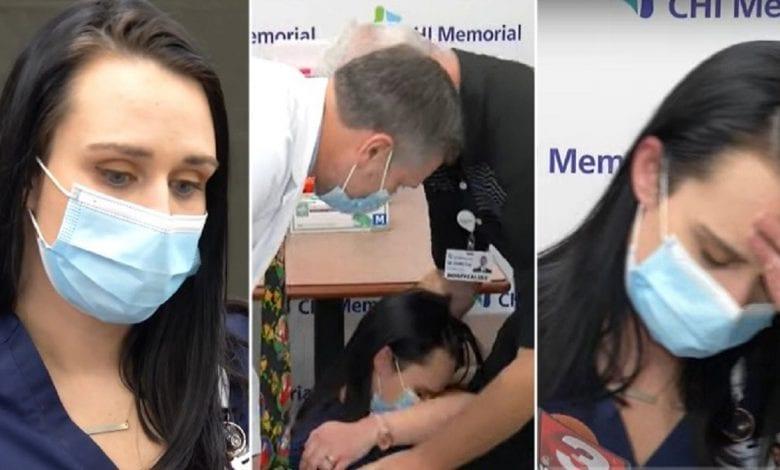 USA / Covid-19: une infirmière s'évanouit après avoir reçu le vaccin Pfizer-Vidéo
