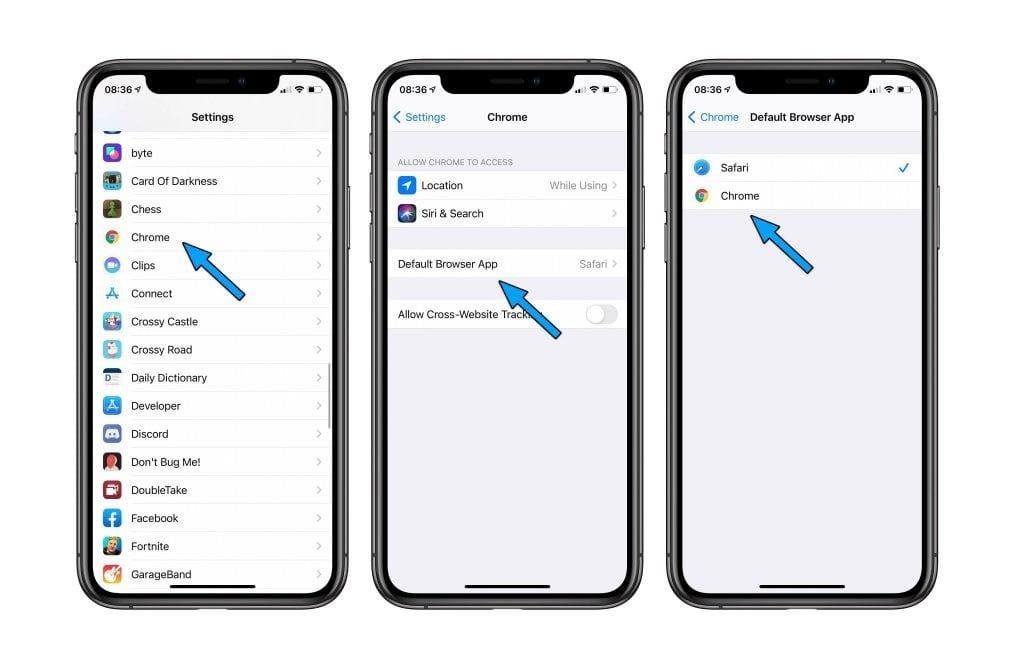 iPhone : Voici comment changer de navigateur par défaut