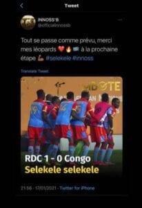 Chan : Innoss'B Remercie L'Équipe Congolaise Pour Avoir Dansé &Quot;Selekele&Quot;