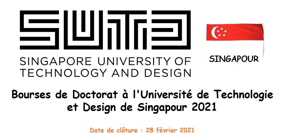 Bourses de Doctorat à l'Université de Technologie et Design de Singapour 2021