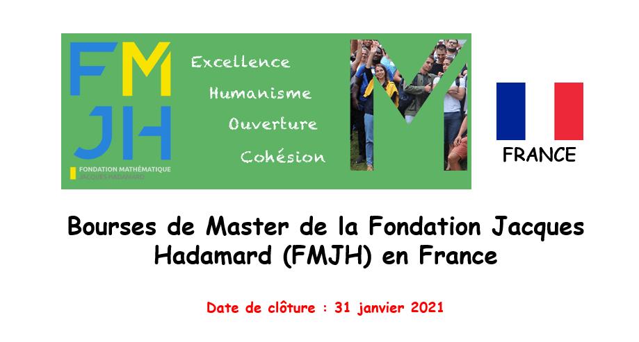 Bourses de Master de la Fondation de Mathématiques Jacques Hadamard (FMJH) en France