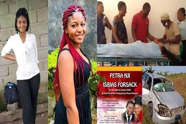 Cameroun: une jeune femme meurt dans un accident de voiture à 5 jours de son mariage