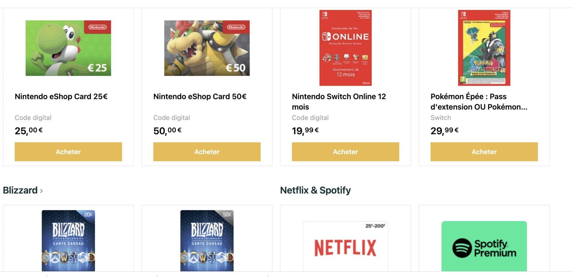 Startselect, solution pour acheter des jeux et netflix abonnement en ligne