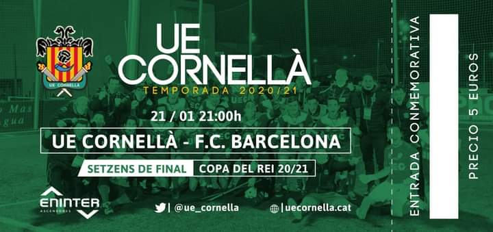 Coupe du Roi: UE Cornella vs Fc Barcelone: les probables compositions