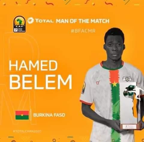 CHAN 2021: Hamed Belem désigné meilleur joueur de la rencontre Cameroun - Burkina-Faso