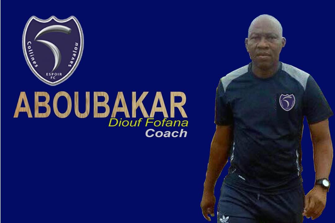 Transfert: Le coach Fofana Diouf Aboubacar s'engage avec Espoir Fc de Savalou