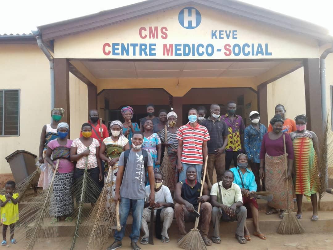 Togo : Le MEJ rend propre le CMS de Kévé