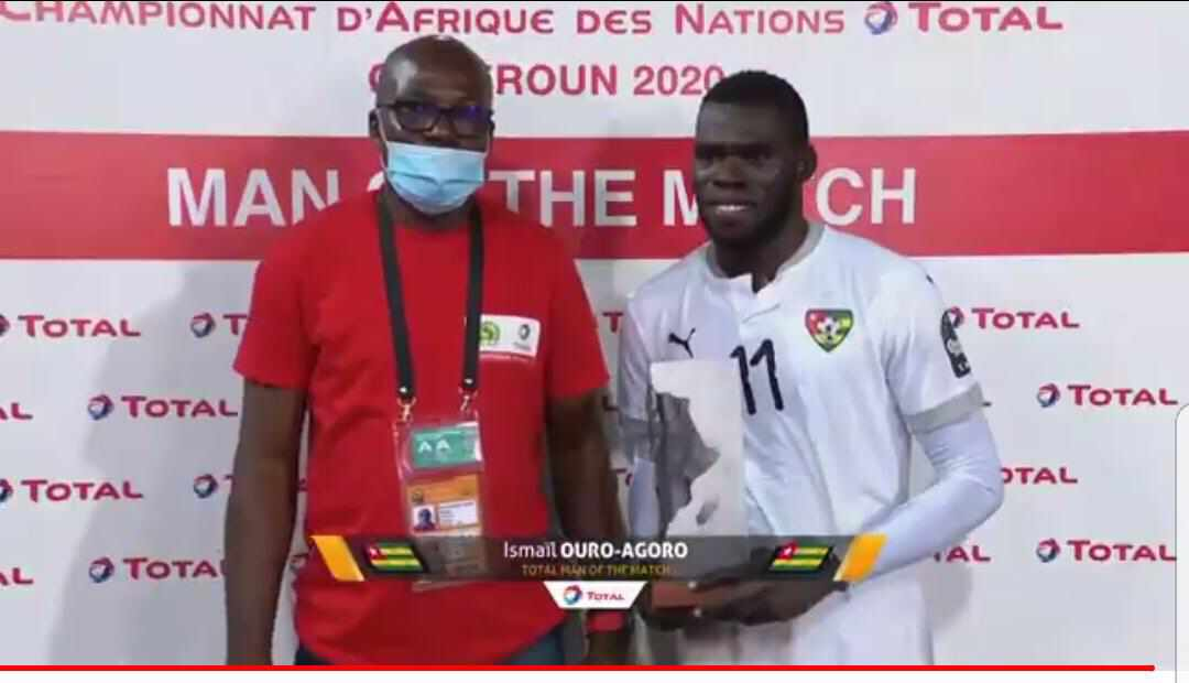 CHAN 2021: Ouganda vs Togo: Ouro Agoro Ismaël élu homme du match