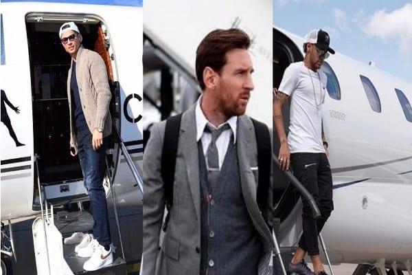 Messi, Cristiano Ronaldo ou Neymar : qui possède le jet privé le plus cher ? (photos)