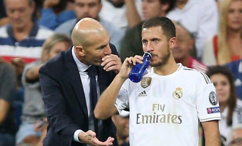 """Real Madrid: le message de Zidane à Eden Hazard pour cette année """"2021"""""""