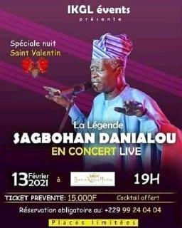 Sagbohan Danialou : La légende en concert ce 13 février