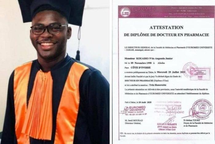 Sénégal: un ivoirien devient Docteur en Pharmacie à 21 ans !