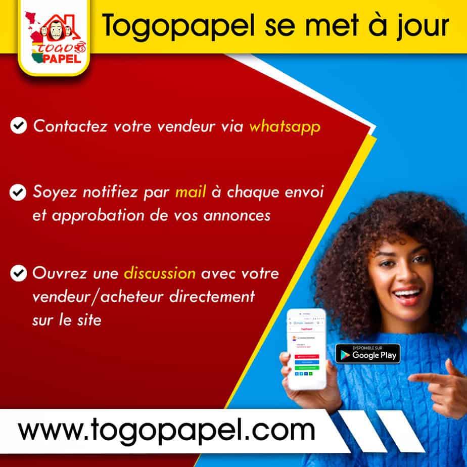 Togopapel.com lance le bouton Contacter via Whatsapp