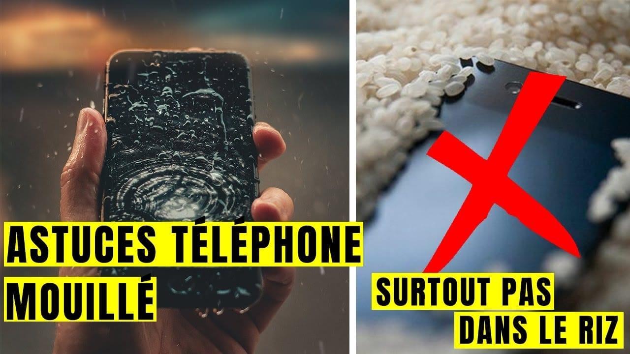 Que faut-il faire lorsque votre téléphone est mouillé ?