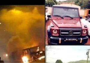 Sidiki Diabaté : La Mercedes Class G De L'Artiste Prend Feu