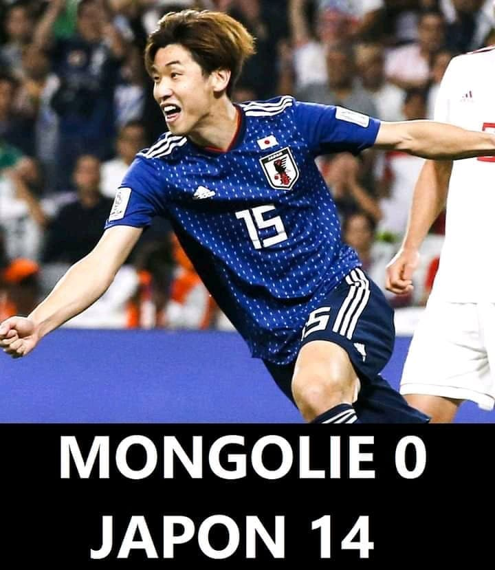 Football : Le Japon bat la Mongolie 14-0