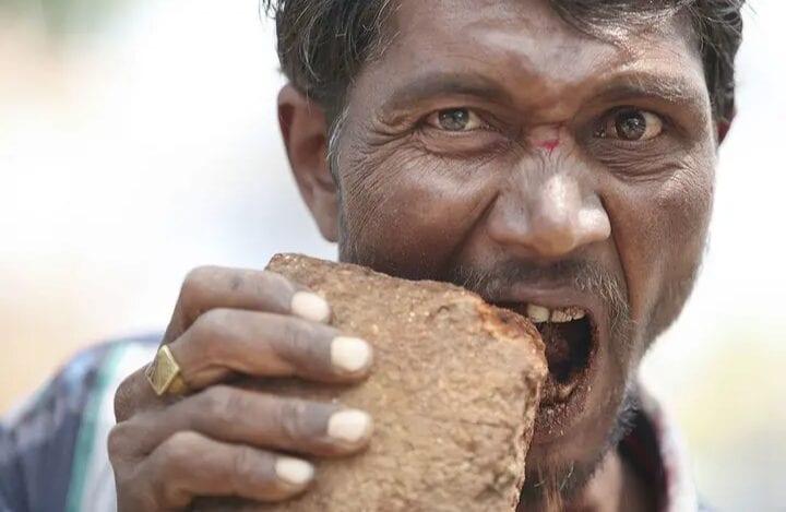Inde : Il Se Nourrit De Briques Et De Boue
