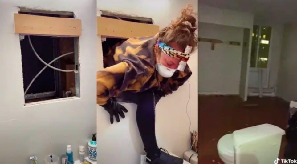 Cette Américaine fait une découverte ahurissante derrière le miroir de sa salle de bain