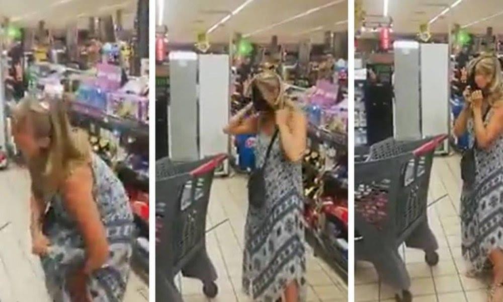 Elle utilise son slip comme cache-nez pour ne pas être expulsée d'un supermarché (vidéo)