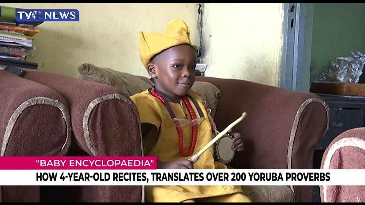 Nigeria : Incroyable, à seulement 4 ans, il récite et traduit plus de 200 proverbes yoruba-(vidéo)