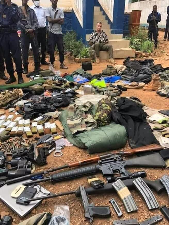 Centrafrique : un français arrêté avec une énorme quantité d'armes et de munitions