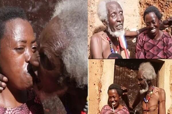 Un homme de 100 ans plein de joie après avoir trouvé l'amour de sa vie (vidéo)