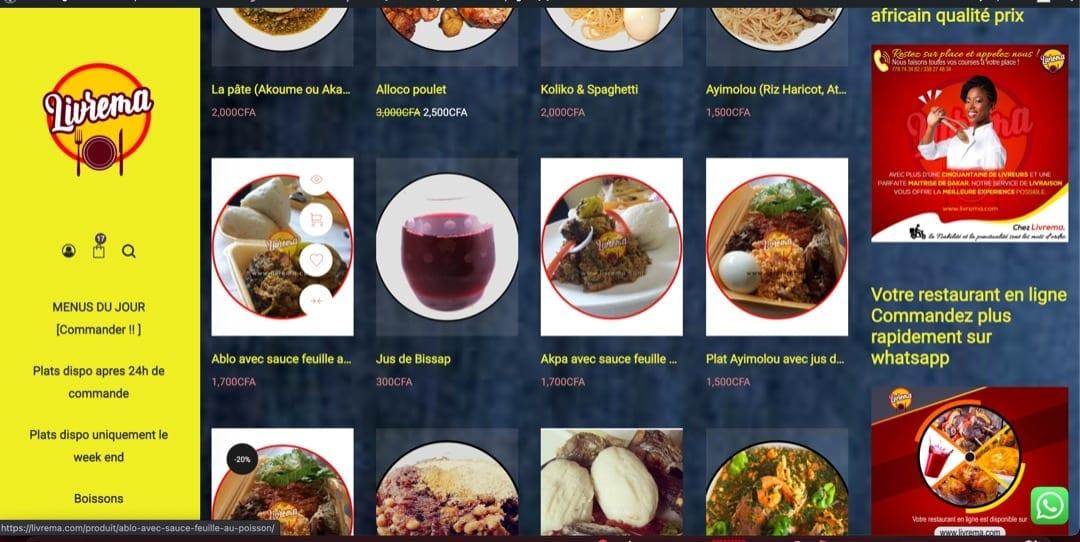 Livrema.com, la plateforme de livraison de plats africains au Sénégal