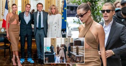 Voici les raisons de la rencontre entre Justin Bieber et le couple Macron
