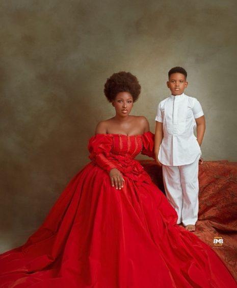 De superbes photos de l'actrice Chinonso Arubayi et de son fils Jayden